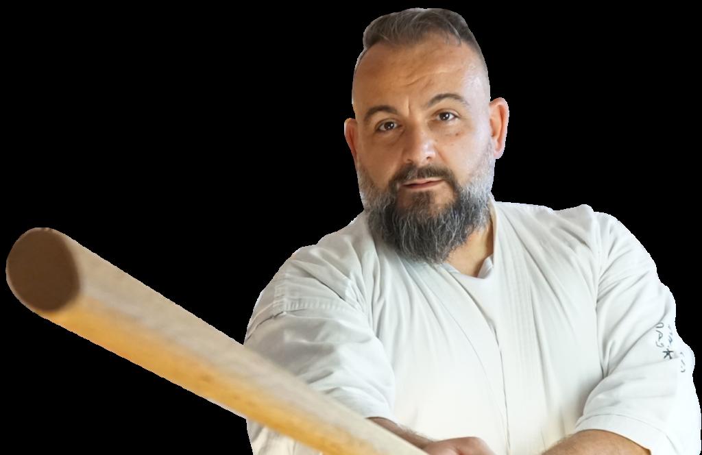 Fabio Ramazzin con bokken in mano